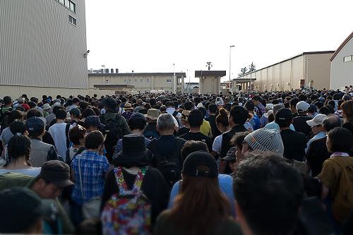 帰りゲート前の混雑